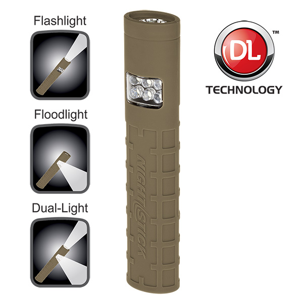 NightStick MultiPurpose NonRechargeable DualSwitch DualLight Tan 2 AAA Batteries