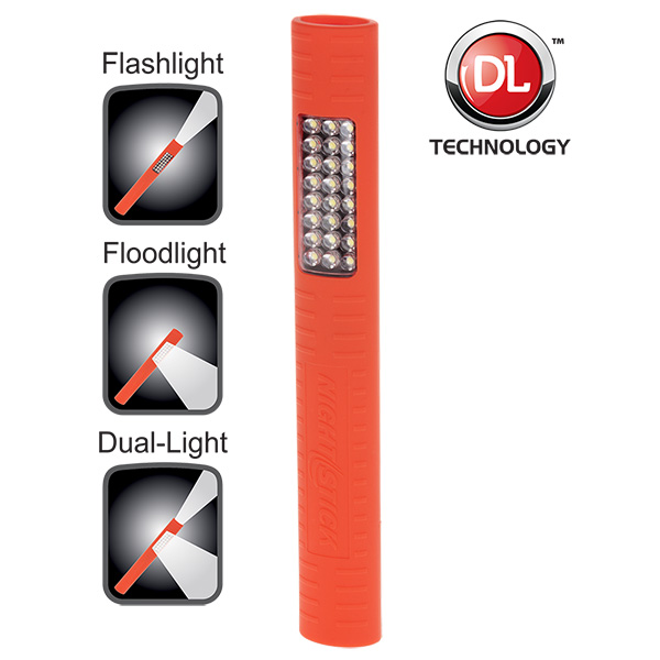NightStick MultiPurpose DualLight with Magnet  Red  3 AA Batteries