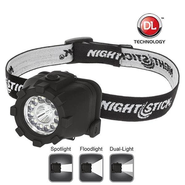 NightStick Dual Light LED Headlamp  NonRechargeable  Black