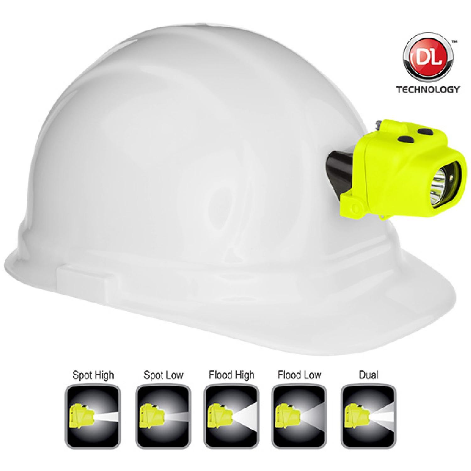 NightStick Intrinsically Safe MultiFunction ClipOn LED DualLight Headlamp  Green