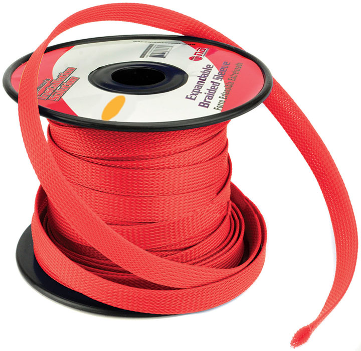 Installation Solution Expandable Braided Sleeve Red 3/4