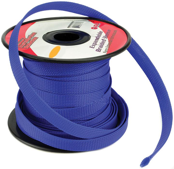 Installation Solution Expandable Braided Sleeve Blue 1/4