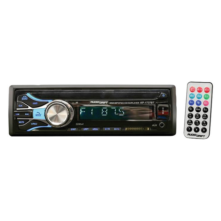 Audiodrift Mechless Single Din AM/FM/BT/USB/ Remote 50x4 Watts