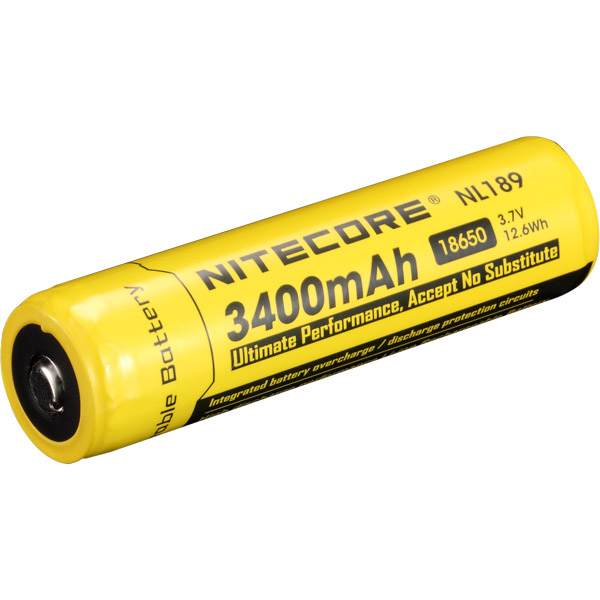 18650 Rechargeable Battery, 3400mAh