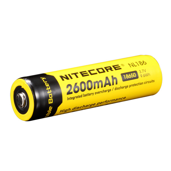 18650 Rechargeable Battery, 2600mAH