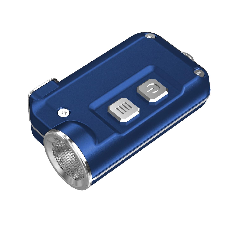 Nitecore TINI 380 Lumen USB RCHRGBL LED Keychain Light Blue