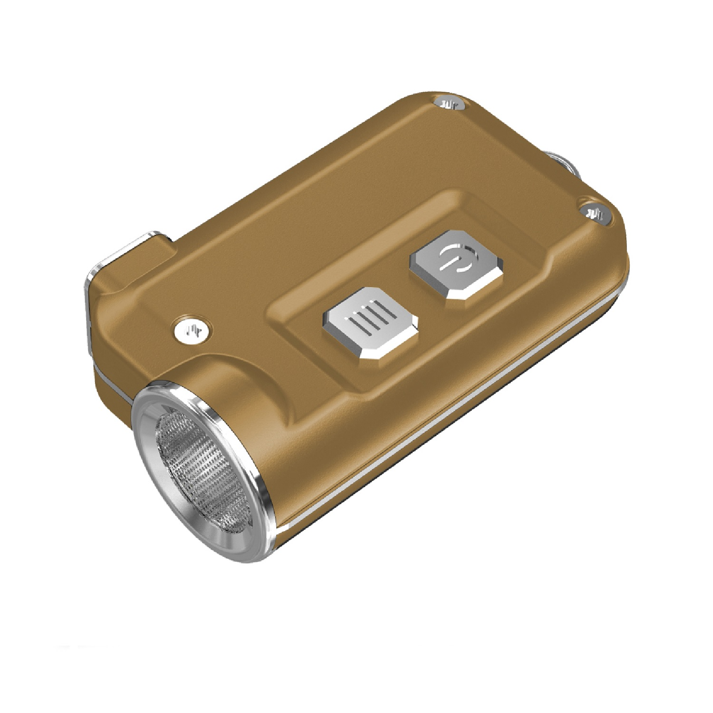 Nitecore TINI 380 Lumen USB RCHRGBL LED Keychain Light Gold