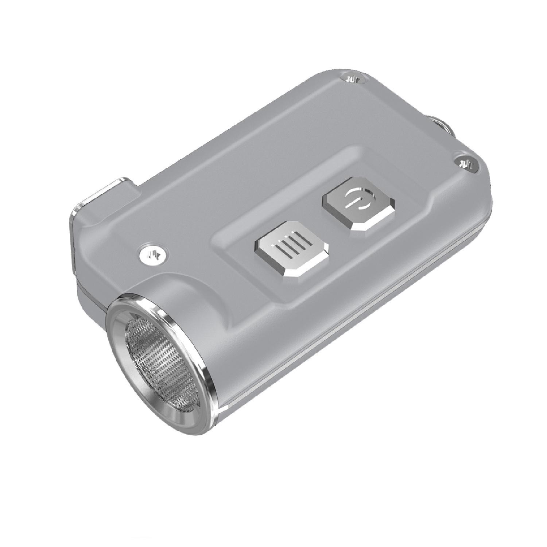 Nitecore TINI 380 Lumen USB RCHRGBL LED KeychainLight Silver