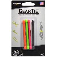 Nite Ize GT3-4PK-A1 Reusable Gear Tie, 3 in L