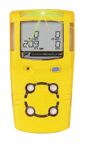 BW Technologies by Honeywell Yellow MicroClipXL� Carbon Monoxide, Hydrogen Sulfide And Oxygen Detector