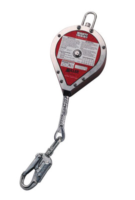 "Miller� by Honeywell 20' MightyLite� Self-Retracting 3/16"" Galvanized Cable Lifeline With Tagline And Carabiner, ANSI Z359"
