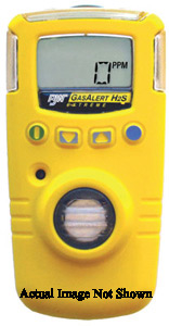 BW Technologies Yellow GasAlert Extreme Portable Hydrogen Sulphide Monitor With 3 V Li-Ion Battery, Data Logging And Internal Vi