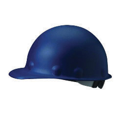 Fibre-Metal� by Honeywell Blue Roughneck� Fiberglass Cap Style Hard Hat With SuperEight� 3R 8 Point Ratchet Suspension