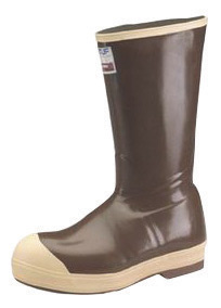 "Norcross Size 8 XTRATUF� Copper Tan 16"" Insulated Neoprene Boots With Chevron Outsole And Steel Toe"