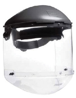 Fibre-Metal� by Honeywell High Performance� Model F400 Clear Propionate Dual Crown Faceshield System With Window, Clear Chin Gua