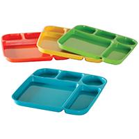 Nordic Ware 60155 Lightweight Party Tray 9-3/4 in W x 9-3/4 in L x 1-3/4 in H, High-Heat Plastic, Assorted