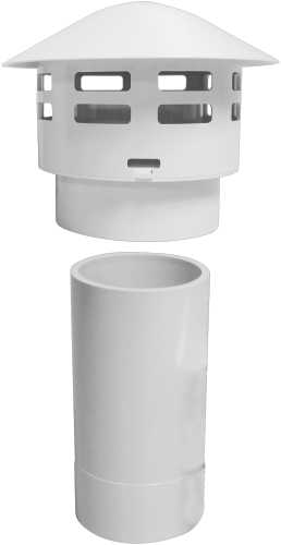 NORITZ� PVC CONCENTRIC VERTICAL ADAPTER SET, FOR USE WITH VK3-H-PVC