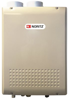 NORITZ� CONDENSING DIRECT VENT NATURAL GAS TANKLESS WATER HEATER, 180,000 BTU, 9.8 GPM, 9.4X18.3X24.2 IN., 58 LBS.