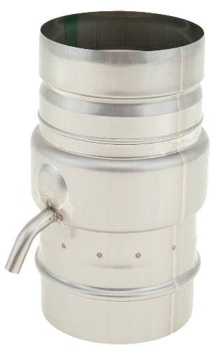 NORITZ TANKLESS WATER HEATER VENT DRAIN TEE, SINGLE WALL, 4 IN. DIAMETER, STAINLESS STEEL