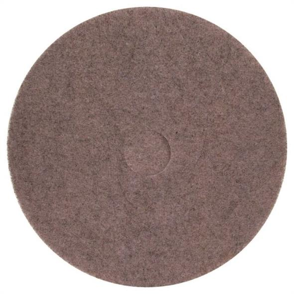 North American Paper 428614 Buffing Pad, For Use With Thermal Buffing and Burnishings, 20 in, Fiber, Natural