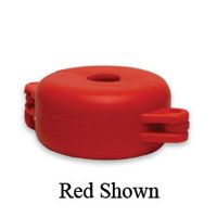 "North+ V-Safe+ Red Valve Wheel Lockout For Valve Wheels Up To 2-1/2"" In Diameter"