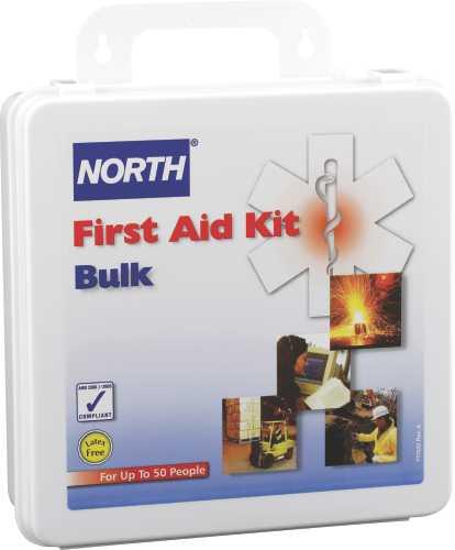 North+ 50 Person Weatherproof Plastic Bulk First Aid Kit