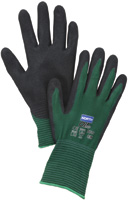 North+ Large Green And Black NorthFlex-Oil Grip+ Nitrile Palm Coated Gloves With Nylon Liner And MicroFinish+ Textured Finish