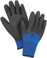 North+ 2X Black And Blue Nylon North+Flex-Cold Grip+ Cold Weather Gloves With Foamed PVC Coating And Synthetic Lining