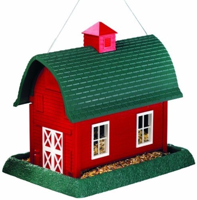 North States 9061 Large Barn Bird Feeder, 8 lb Capacity, 14-1/2 in W X 10-1/2 in L X 11-1/2 in H