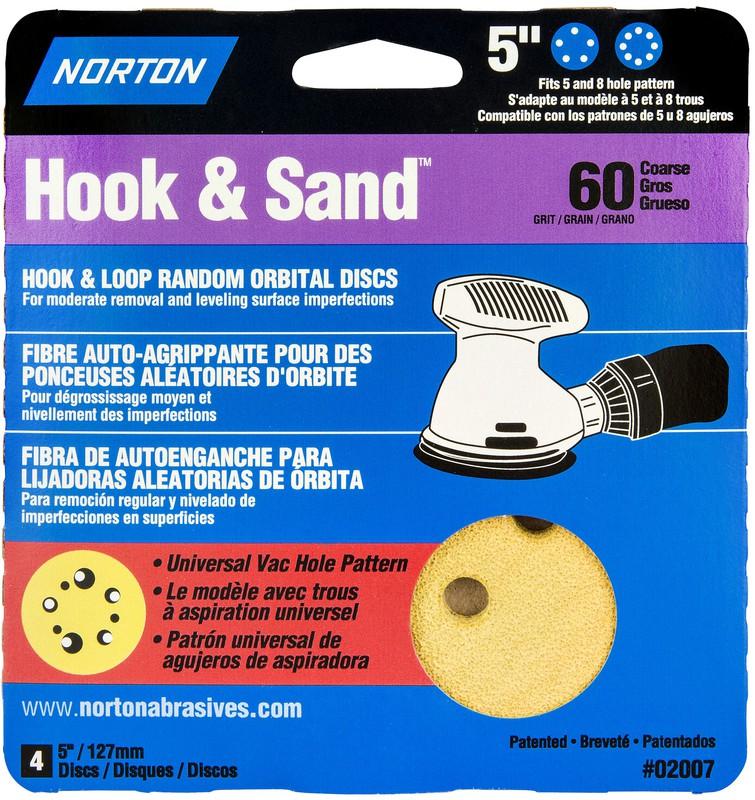 02007 60 5X5 8 HOLE SAND DISC