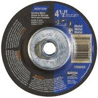 Norton 66252843609 Type 27 Grinding Wheel, 4-1/2 in Dia x 1/8 in T, 5/8-11 Arbor