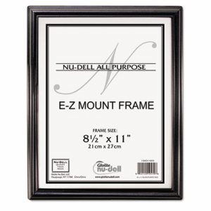 EZ Mount Document Frame, Plastic, 8 1/2 x 11, Black