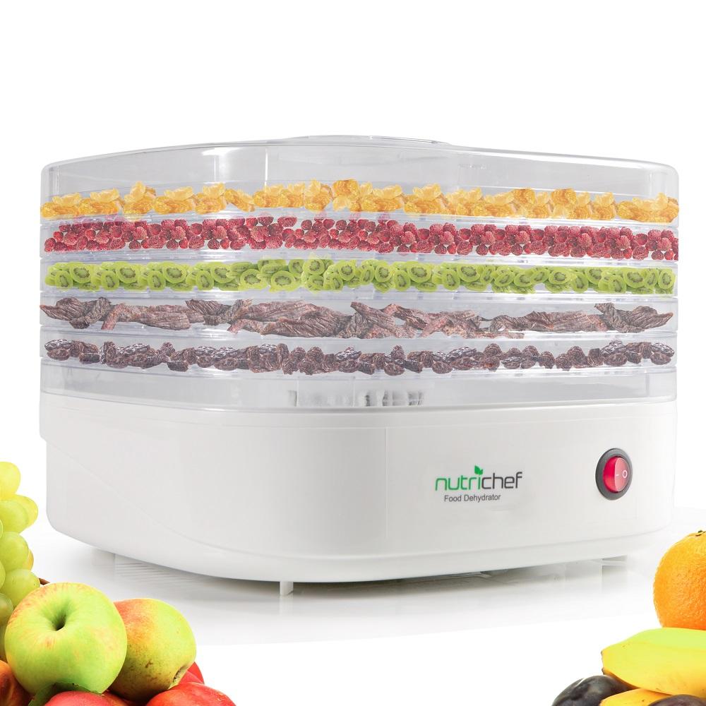 NUTRICHEF PKFD06.0 WHITE COUNTERTOP FOOD DEHYDRATOR & FOOD