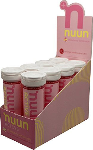 Nuun Active, 8 Tubes, Strawberry Lemonade