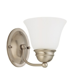 *EMPIRE 1 Light 7 Vanity With Frosted White G