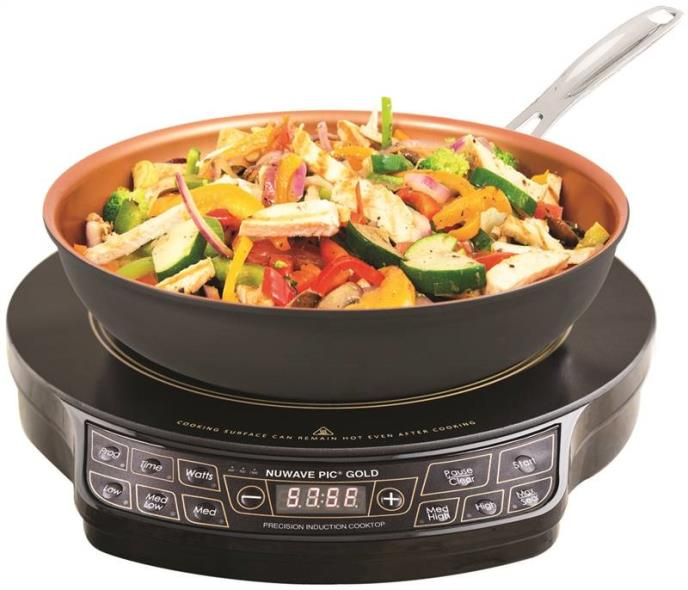 NuWave 30153 Lightweight Induction Cooktop With 9 in Fry Pan, 10.8 A, 1300 W, Black
