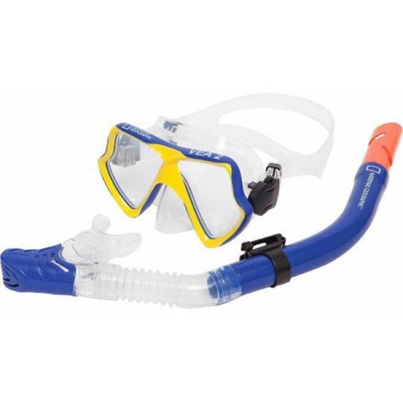 Natl Geographic VEA2 Combo Mask & VIVA 2 Snorkel Blue/YL Med