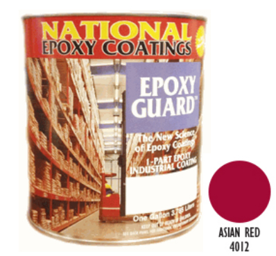 EPOXY GUARD 1-PART EPOXY COATING Asian Red 5 Gal