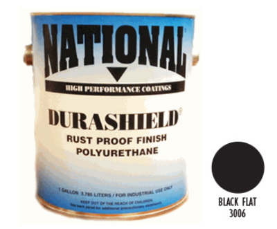 DURASHIELD RUST PROOF INDUSTRIAL ENAMELS - Flat Black Gal