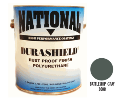 DURASHIELD RUST PROOF INDUSTRIAL ENAMELS - Battleship Gray 5 Gal