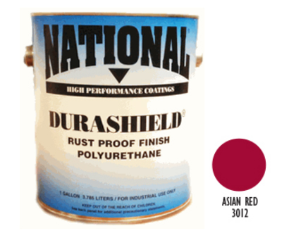 DURASHIELD RUST PROOF INDUSTRIAL ENAMELS - Asian Red 5 Gal