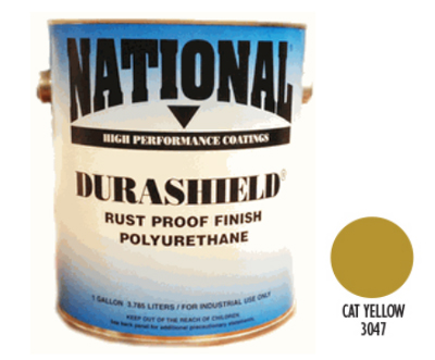 DURASHIELD RUST PROOF INDUSTRIAL ENAMELS - Cat Yellow 5 Gal