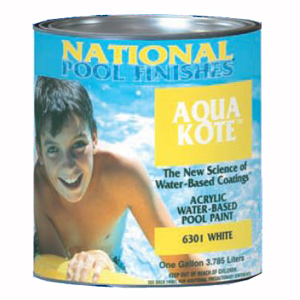 Aqua Kote™ Acrylic Water-Based Pool Paint White - 5 Gallon