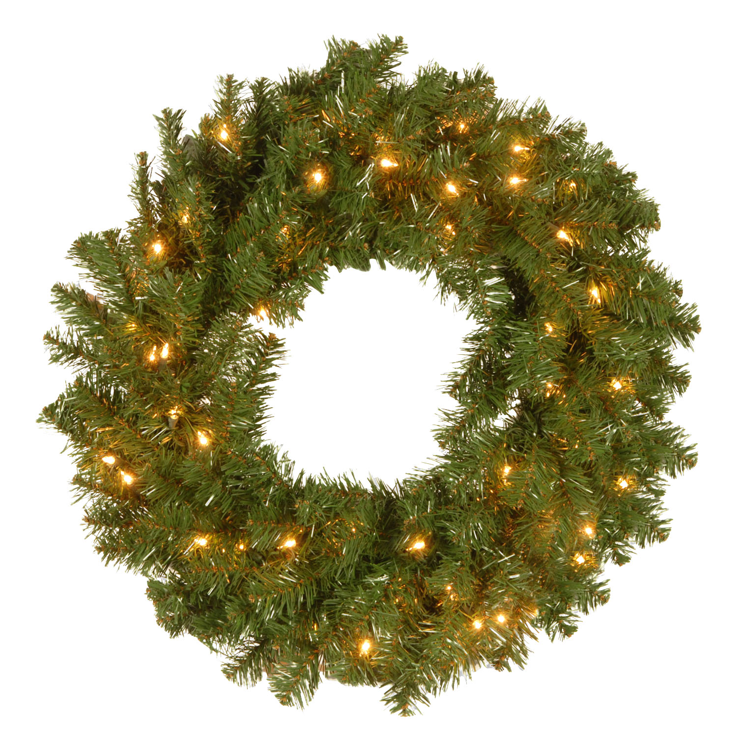 "24"" Kincaid Spruce Wreath with 50 Clear Lights"