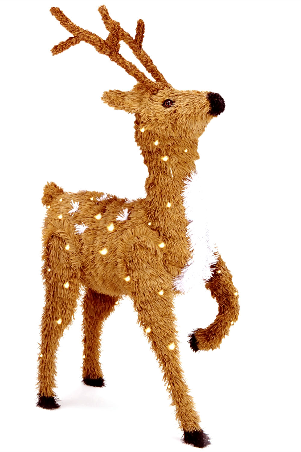 "36"" Creative Images Brown Prancing Reindeer with Spots and 150 Clear Lights-UL"
