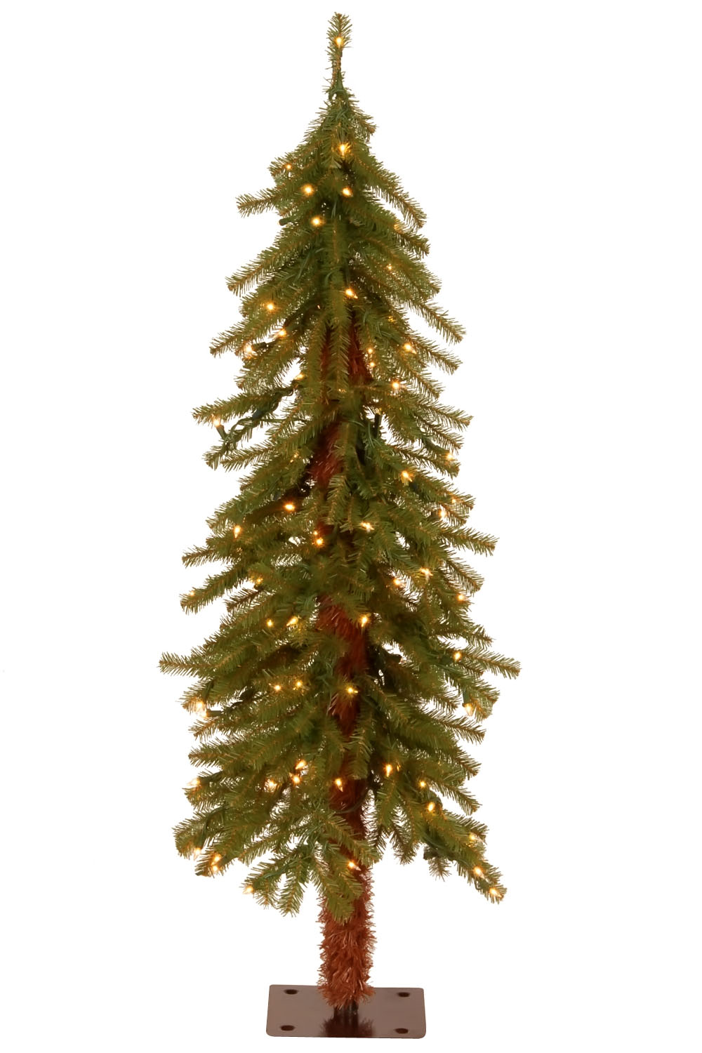 4' Hickory Cedar Tree with 100 Clear Lights