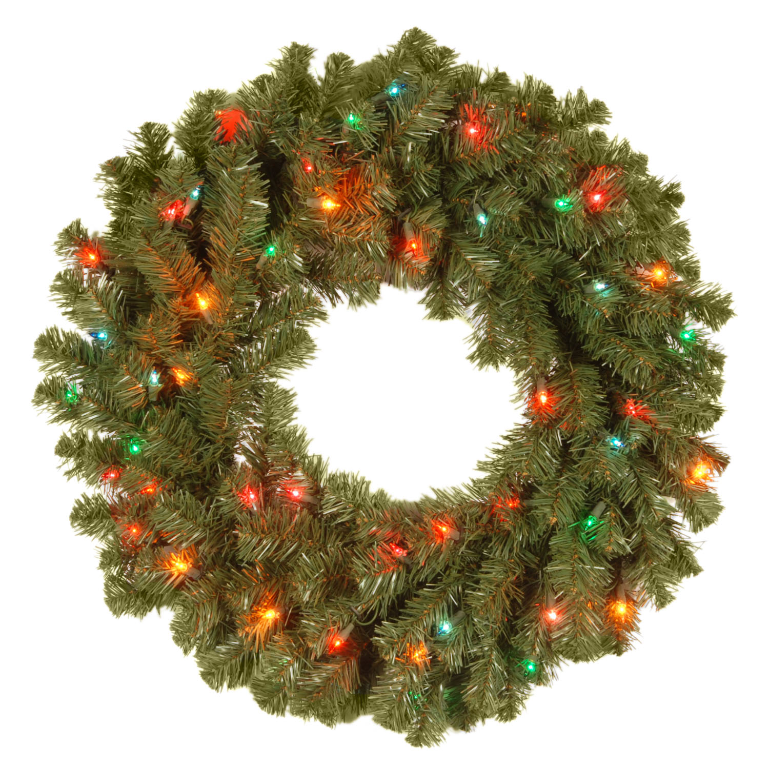 "24"" Kincaid Spruce Wreath 50 Multi Lights"