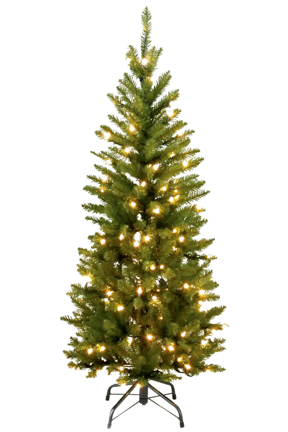 4 1/2' Kingswood Fir Hinged Pencil Tree with 150 Clear Lights