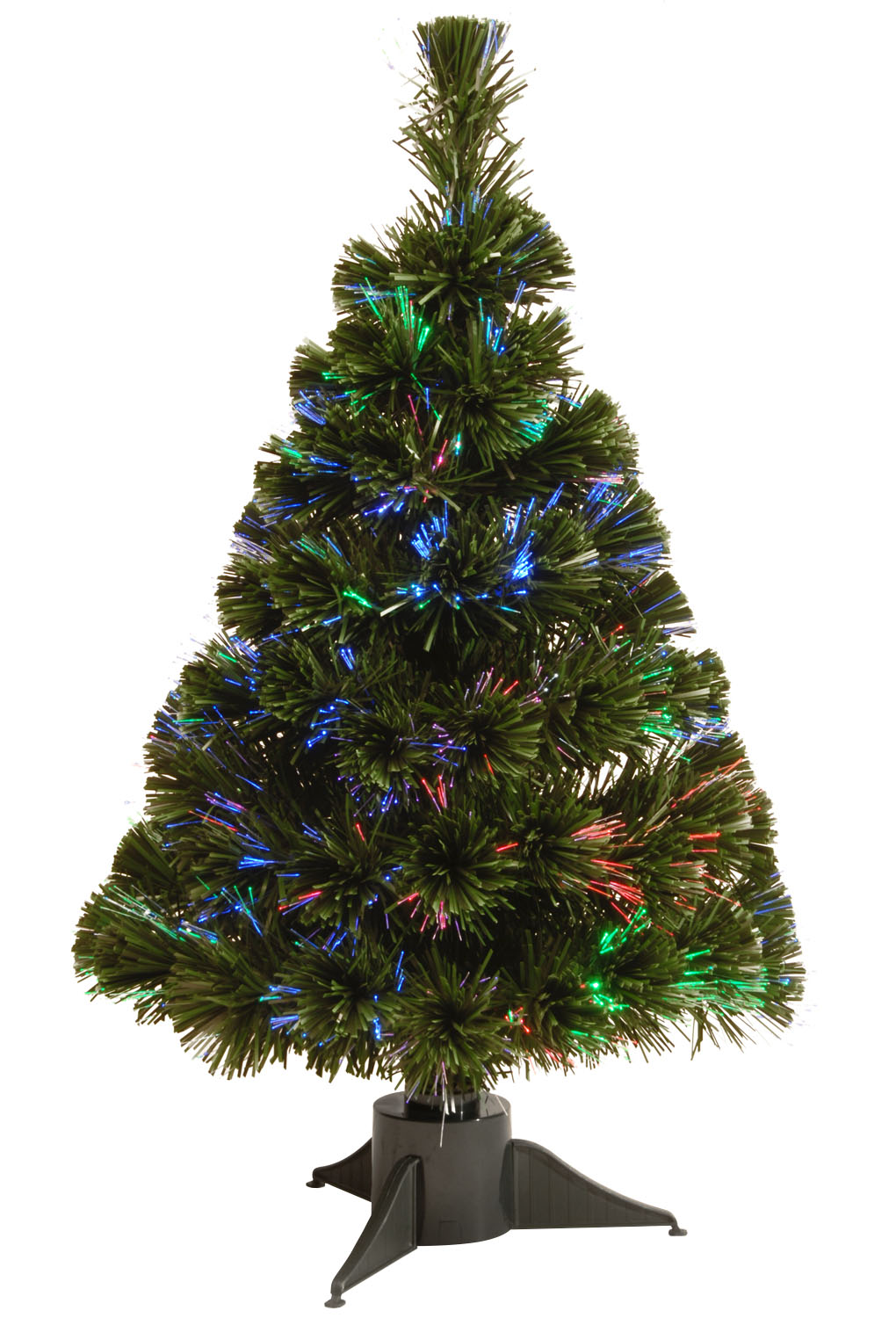 "24"" Fiber Optic Ice Tree with with Green Base-Battery Operated w/Timer"