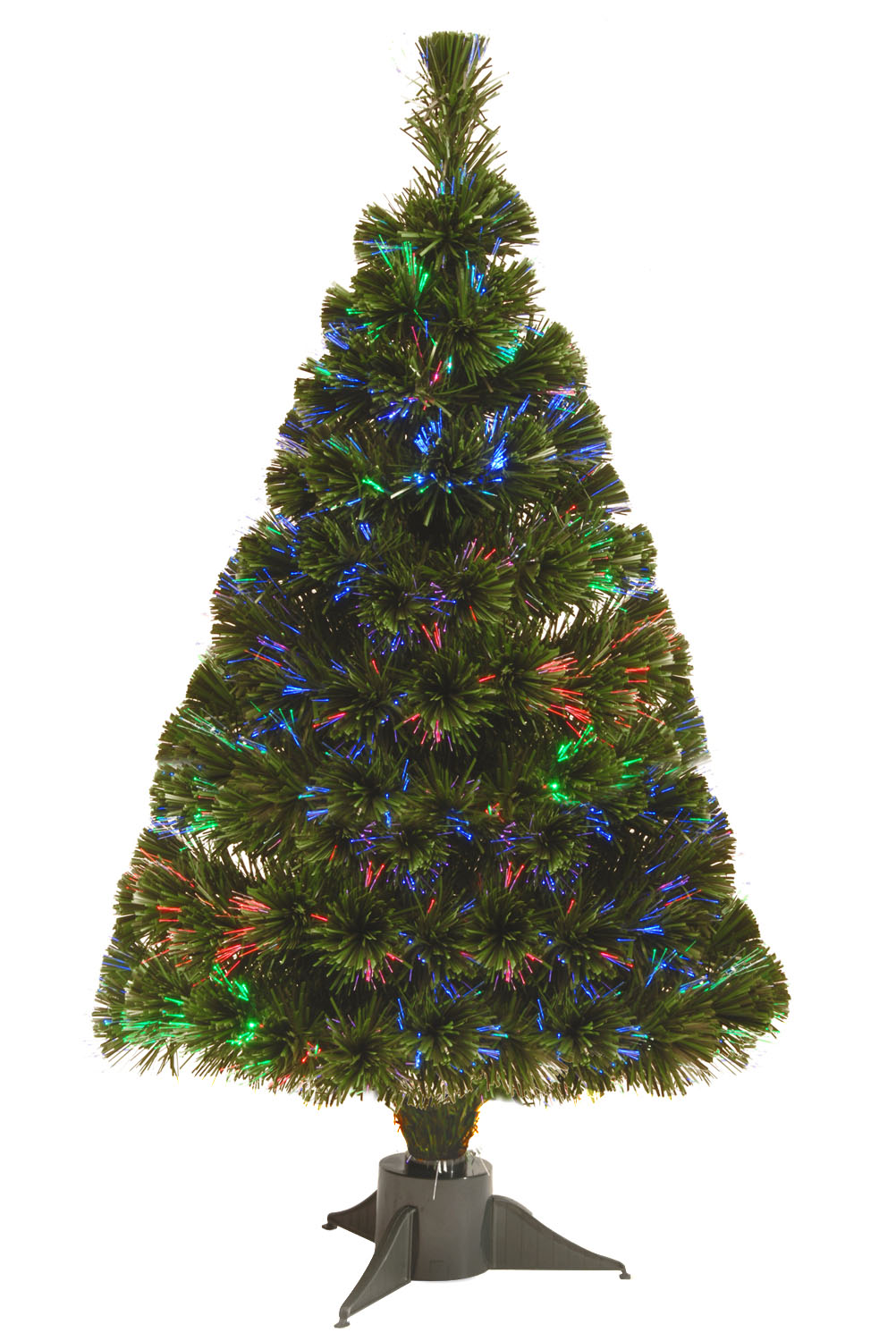 "32"" Fiber Optic Ice Tree with with Green Base-Battery Operated w/Timer"